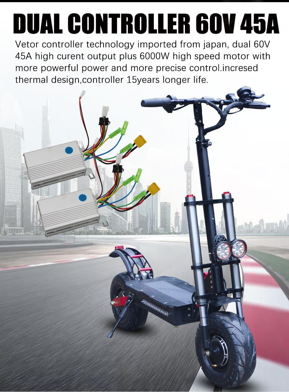Quilometragem máxima 90km dobrável scooter adulto com