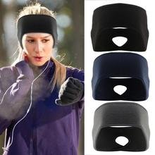 Outdoor Fleece Ponytail Headband Yoga Running Fitness Sports Warm Sweatband