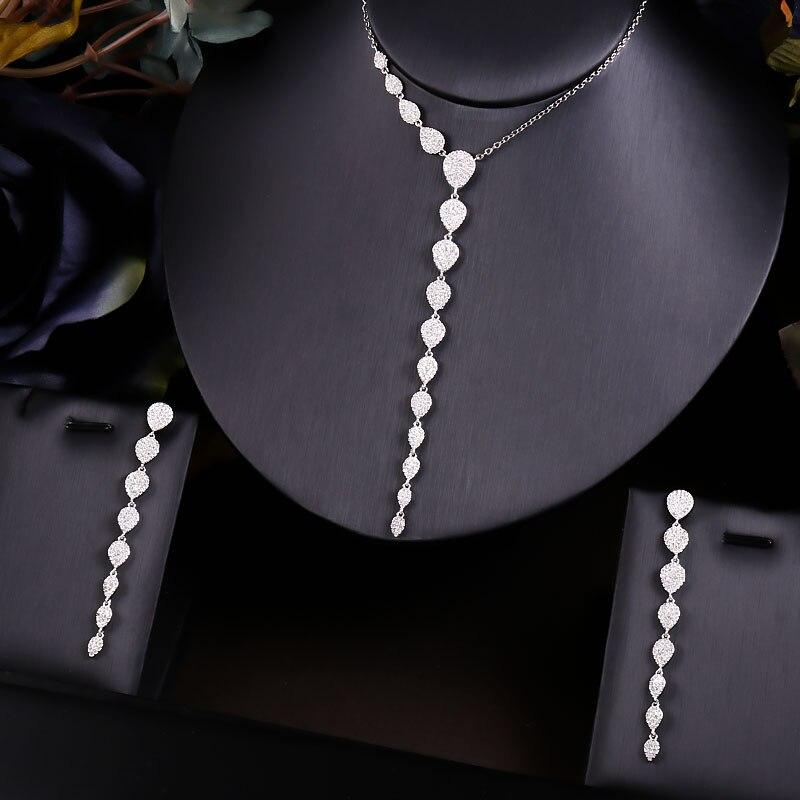 Janekelly, 2 uds. De juegos de joyas africanas de Zirconia nupcial para mujer, conjuntos de joyas y más de Dubai, Nigeria, cristal CZ para bodas, conjuntos de joyas