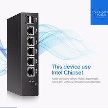 Superior Quality Fanless Mini PC Quad Core Celeron J1900 4*Intel Gigabit Lan 1*COM Pfsense Firewall