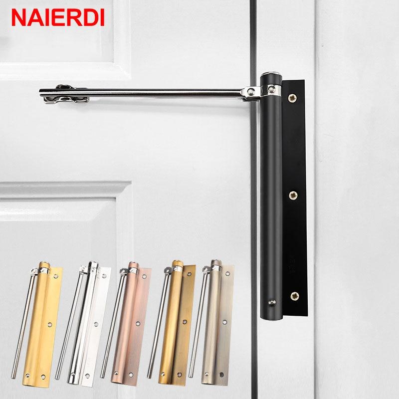 NAIERDI-مفصلة باب من الفولاذ المقاوم للصدأ قابلة للتعديل ، مفصلة أوتوماتيكية للمنزل ، إغلاق مقاوم للحريق