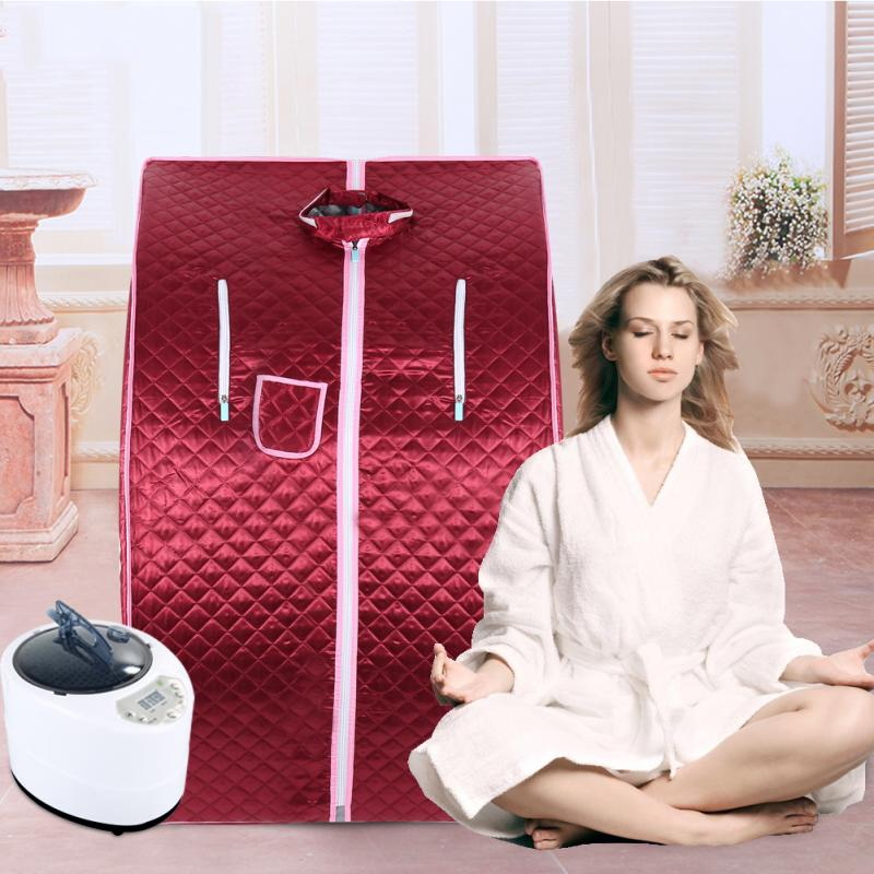 Portable Therapeutic Steam Sauna Spa Full Body Slim Detox Weight Loss Indoor Sauna Rooms Spa Tubs Home Improvement