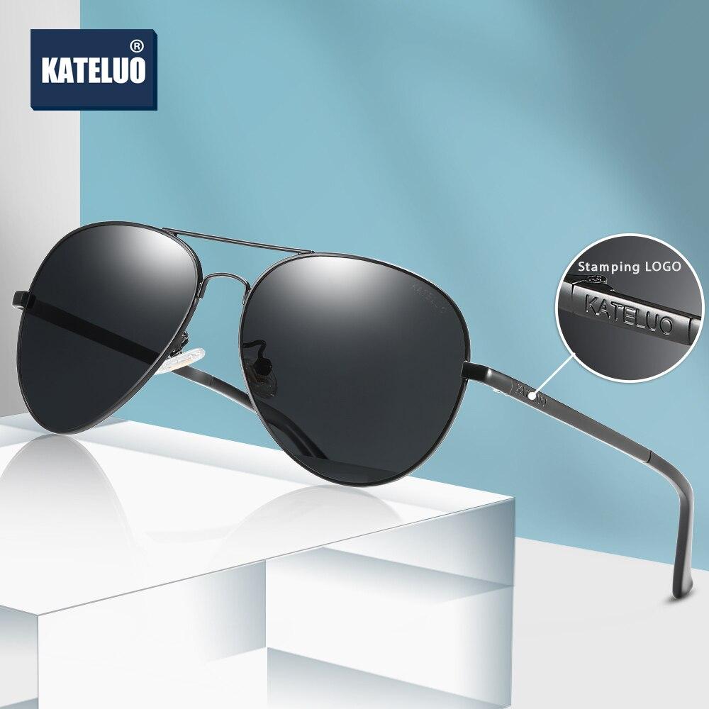 KATELUO 2020, gafas de visión nocturna de día para hombre, gafas para conducir fotocromáticas, gafas de sol polarizadas UV400, gafas de sol 7759