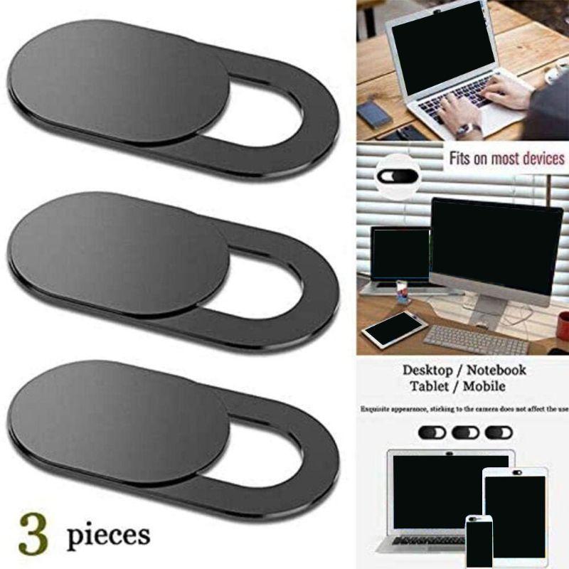 Cubierta de cámara deslizante, Webcam de gran compatibilidad, Protege tu privacidad en...