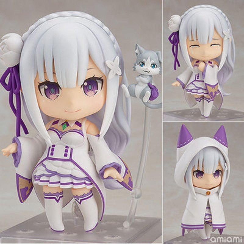 Re:Life In A Different World From Zero Anime Figures Emilia 751# PVC Rem Ram Model Toys Collection Action Figures Collectible