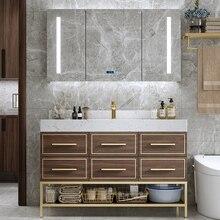 2020 nouveaux meubles de salle de bain multicouche en bois massif vanité en bois massif armoires de salle de bain SV244