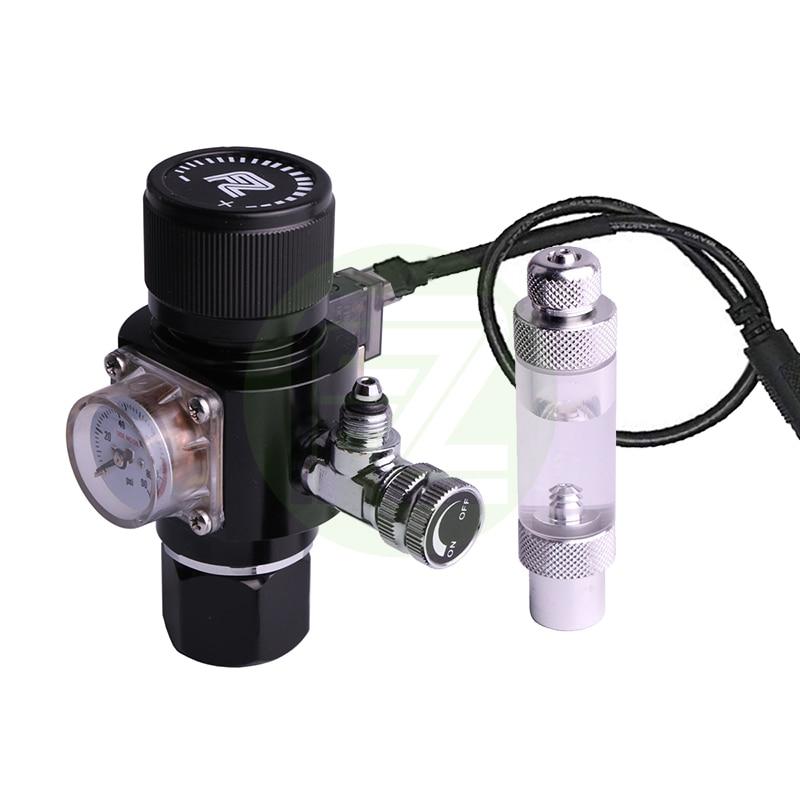 Regulador de CO2 de acuario multietapa Fzone con Mini solenoide de CC para cilindro de apertura superior y lateral