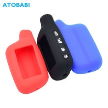 Silicone Car Key Case For Tomahawk X5 X3 Russia Two Way Car Alarm Keychain Protector Bag LCD Remote