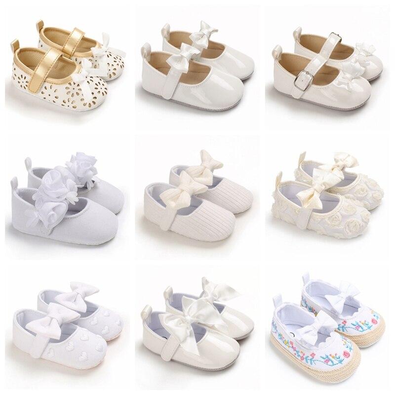 Весенне-осенний стильный Детский милый лук, стиль принцессы для крещения, повседневная обувь для детей 0-18 месяцев, детская прогулочная обув...