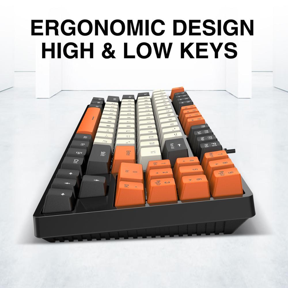 Mechanical Keyboard Red Switch with 89 Keys PBT Keycaps For PC Tablet Desktop Gamer enlarge