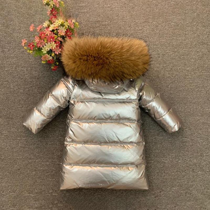 2021 Winter Baby Boy Down Jacket Long Warm Girls Coat Hooded Real Fur Children Snow Parkas Outdoor Teenager Kids Windbreaker enlarge