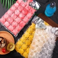 10pcs of disposable ice making bags self sealing transparent ice cube tray mold home kitchen gadgets tray tool diy drinking mold