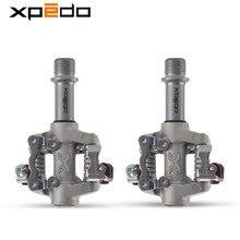 Wellgo Xpedo bisikleti klipsiz pedallar Cleats ile SPD XMF07AC için uyumlu shimano ultra XT / M780 kilit sırt MTB dağ