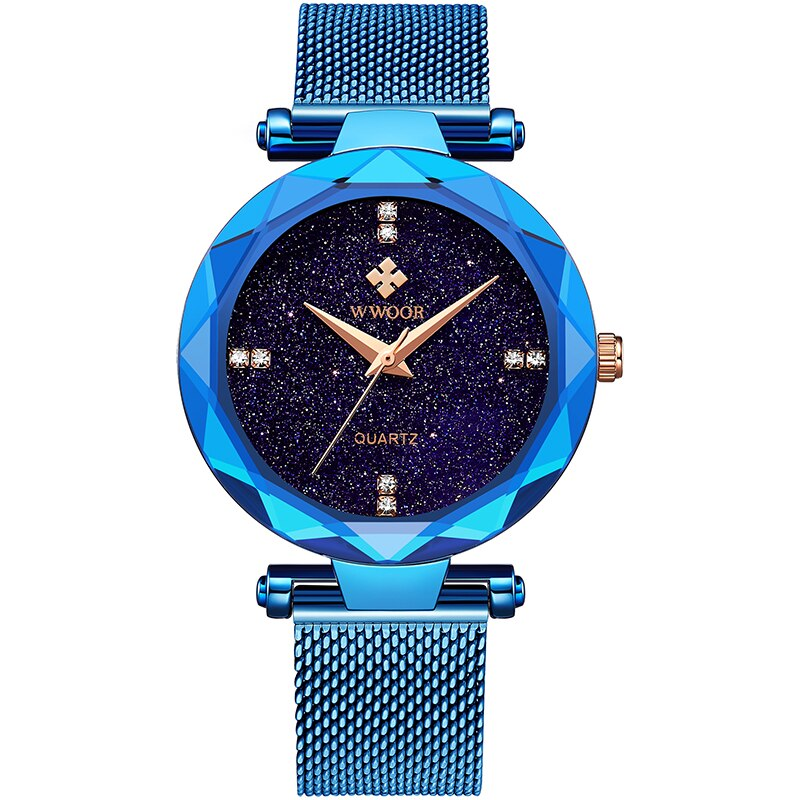 WWOOR Top Brand 2021 Mesh Belt Women Watch Fashion Casual Dress Women's Bracelet Watch Waterproof Ladies Clock Relogio Feminino enlarge