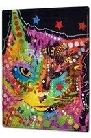 ravtive vet practice colorful cat tin sign