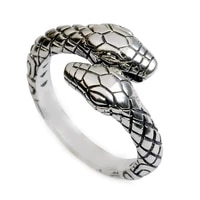 retro double headed snake ring fashion trend ring european and american opening adjustable animal jewelry accessories