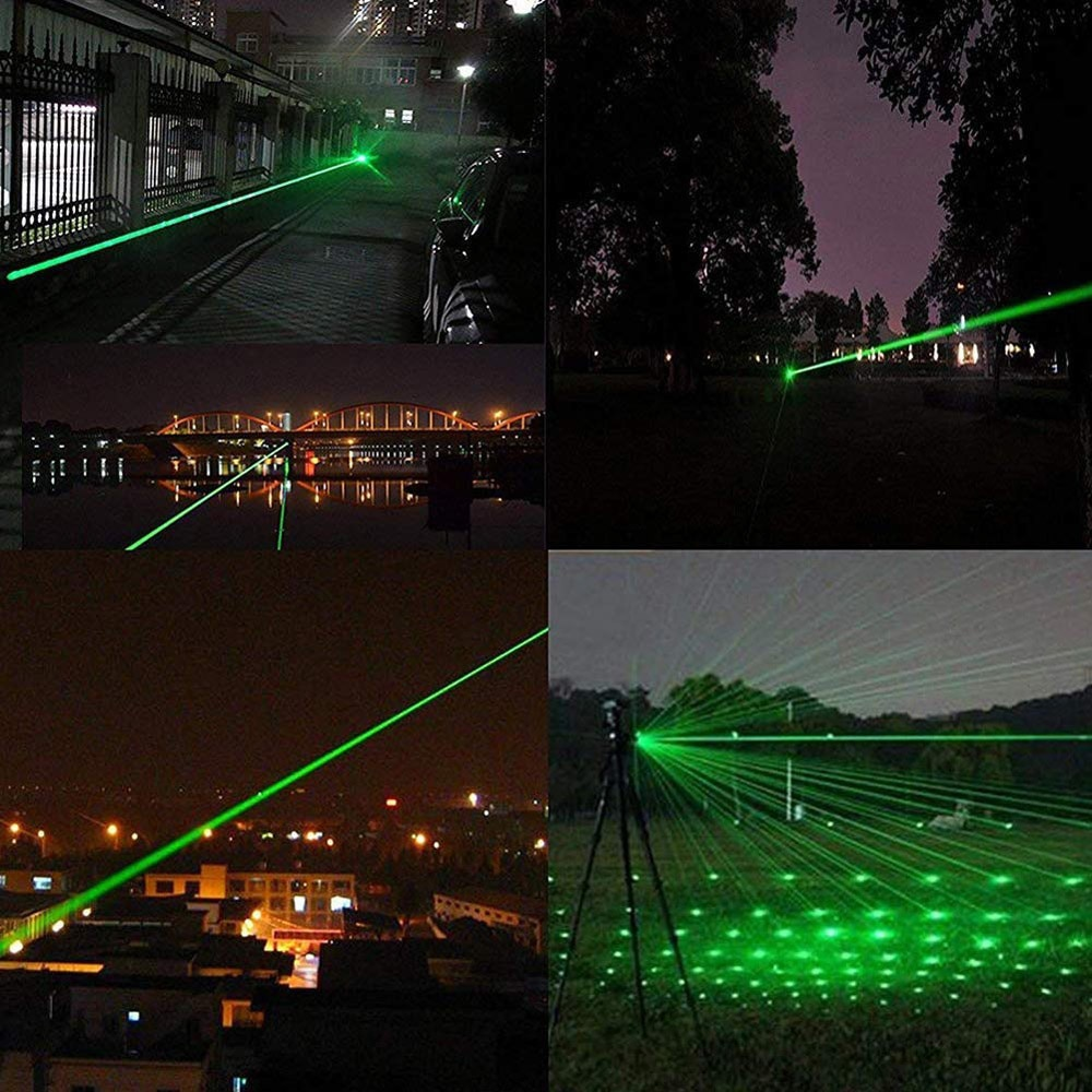 High Power Green Laser Pointer powerful laserpointer Charge laser 303 Light 532nm 5mw burning matches Device Lazer Pen enlarge