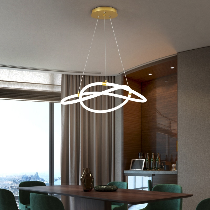 NEO Gleam New Modern led Pendant Lights For Dining Room Living Room Kitchen Room Hanging 360 Glow Pendant Lamp Fixtures