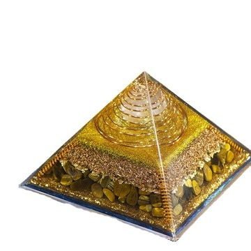 Orgonite Pyramid Reiki Healing Stone MineralCrystal Magnetic Field Energy Converter Resin Decorative Craft Jewelry