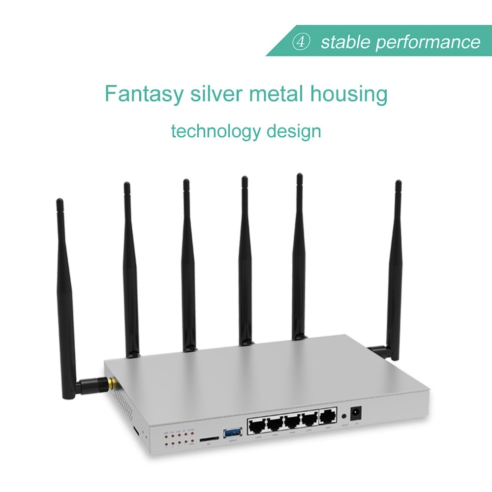 comfast cf wr617ac gigabit dual band ac1200 wireless router 5 8ghz wi fi router with 4 5dbi high gain antennas wider coverage 3g4g5g Lte Mobile Wifi Wireless Router Gigabit Dual-Band AC1200 Wireless Router Wifi Repeater With 6*5dBi High Gain Antennas