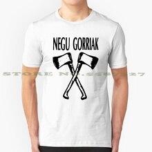 Negu Gorriak noir graphique personnalisé drôle offre spéciale t-shirt