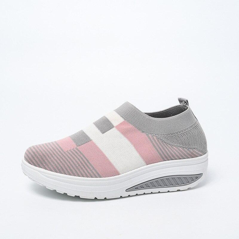 Zapatillas de deporte de plataforma plana para Mujer, zapatos informales de colores...