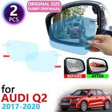 for Audi Q2 2017 2018 2019 2020 Full Cover Rearview Mirror Anti-Fog Films Rainproof Foils Anti Fog Film Clean Car Accessories