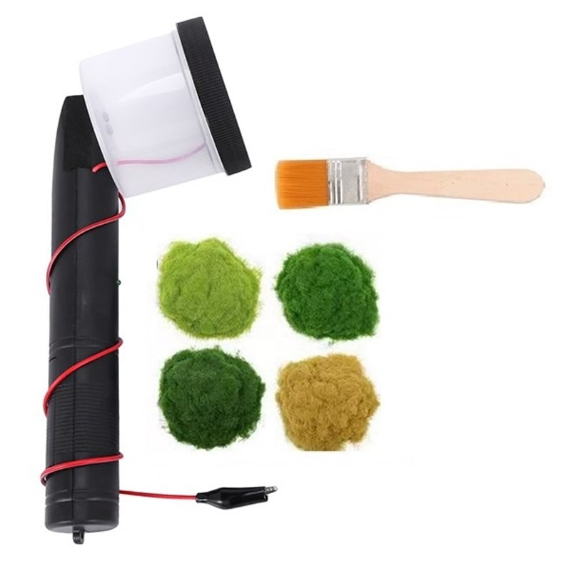 Miniature Scenery Static Flocking Machine Portable Electrostatic Grass Flock Applicator Grass  Applicator Modeling For DIY Plant