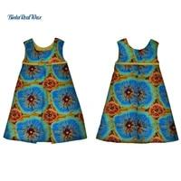 baby girls a line dresses bazin riche african dresses for kids children dashiki african clothing custom patchwork dress wyt213