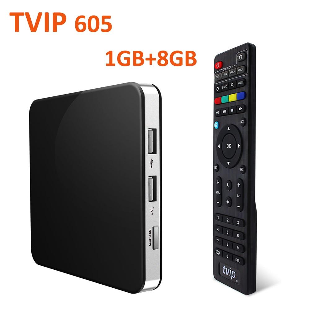S-caja de v.605 Amlogic S905X Quad Core tv Box linux TVIP 605 receptor inteligente 1GB de RAM 8GB ROM 4K TVIP605 reproductor de medios