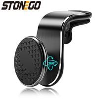 STONEGO 360 металлический магнитный автомобильный держатель для телефона на магните универсальное магнитное крепление, устанавливаемое на вен...