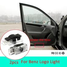 2pcs Led car door light For Mercedes Benz C class w203 maybach w240 slk r171 slr c199 AMG Logo Light Laser Projector Accessories
