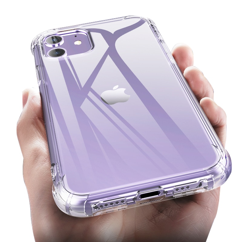 Luxury Transparent Shockproof Silicone Case For iPhone 11 X Xr Xs Max Case 12 Mini 11 Pro 8 7 6 6s P