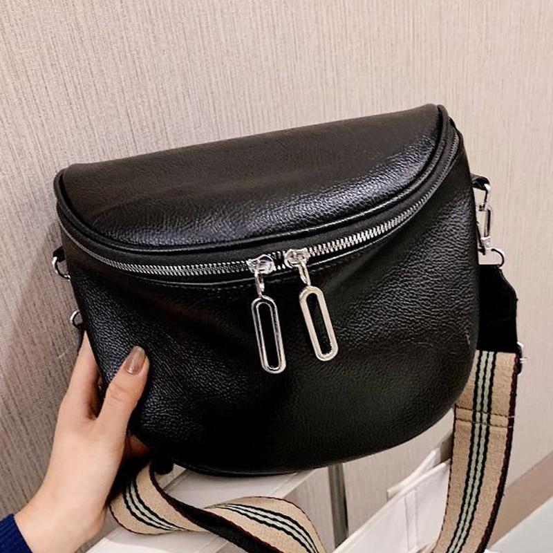 بلون جلد السيدات حقيبة 2021 شتاء جديد موضة حقيبة كتف واسعة حزام الكتف حقيبة ساعي ريترو لينة المحفظة