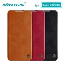 Caes pour Xiaomi Mi 9 Lite CC9 CC9E CC 9 9E Nillkin Qin série housse en cuir pour Xiaomi Mi A3 étui