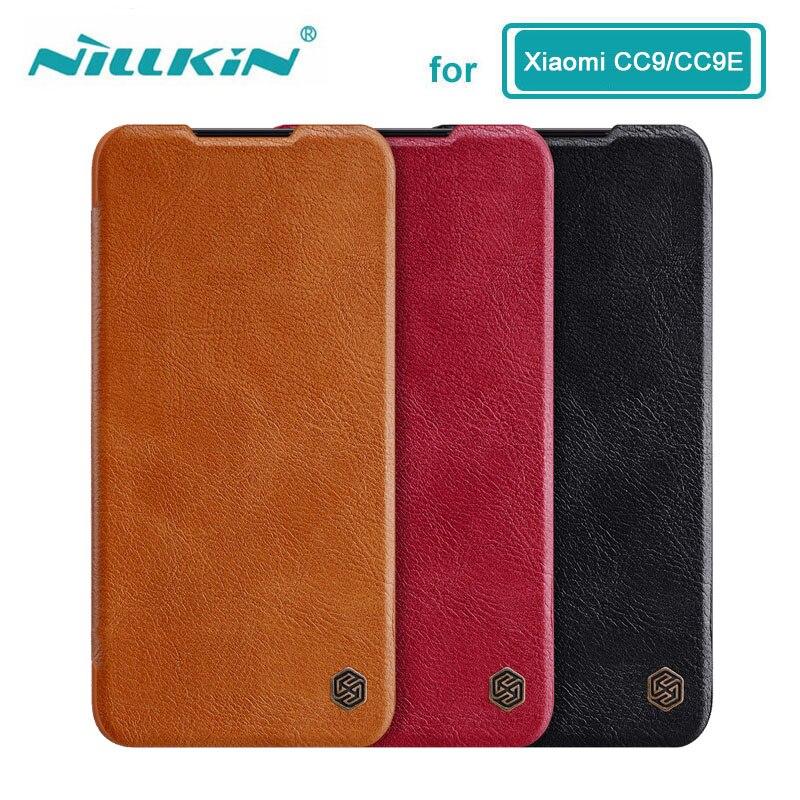 Funda para Xiaomi Mi 9 Lite CC9 CC9E CC 9 9E Nillkin Qin Series Funda de cuero PU para Xiaomi Mi A3  Caso
