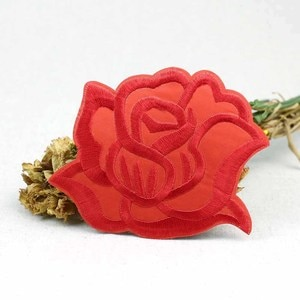 Lulang Rose Flowers Patches Embroidery Flowers Iron on Or Sew on Patch Clothing DIY Applique Patches for Arts Crafts 10cmx8.5cm