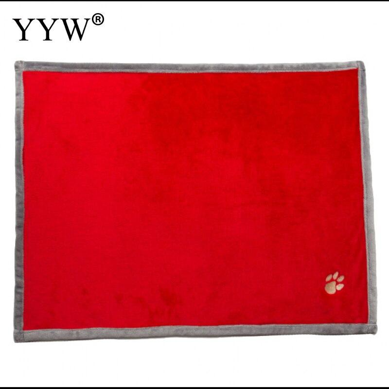 Vermelho cobertor para animais de estimação camas cão gato produtos para animais de estimação tapete de pano macio tapetes para cães acessórios para casa amor animal de estimação suprimentos