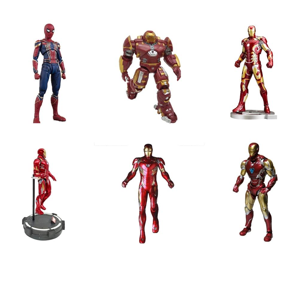 Figuras de acción de Marvel Legends, vengadores, Iron Man, Iron Man, Spider EX-026, Mk85, MK45, Mk44, Mk43, MK42, MK50, modelo de figura de acción, muñecos coleccionables