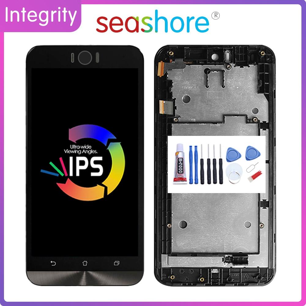 "5,5 ""Original para ASUS Zenfone Selfie ZD551KL Digitalizador de pantalla táctil de pantalla LCD para Asus ZD551KL pantalla con reemplazo de Marco"