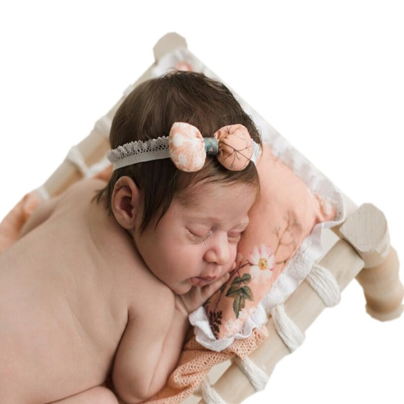 Baby Photography Props Weave Net Bed New Style Infant Photo Studio Child Shooting Newborn Fotografie Accessories Wooden Assembly