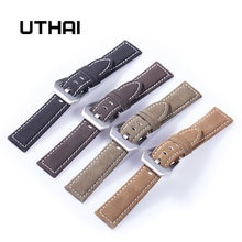 UTHAI P12 20mm bracelet de montre véritable 22mm bracelet de montre 18-24mm accessoires de montre haute qualité 22mm bracelet de montre en cuir bracelets de montre