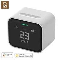Qingping     detecteur dair tactile Lite Retina  ecran IPS  fonctionnement Mobile  pm2  5  moniteur dair  compatible avec Apple HomeKit