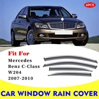 for mercedes benz c class w204 2007 2010 car rain shield deflectors awning trim cover exterior car styling accessories parts