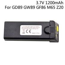 Lâminas da bateria/hélices para o zangão gd89 gw89 gf86 m65 z20 3.7 v 1200mah para o zangão global anu gf86 para a bateria de exa gd89 3.7 v 1 s