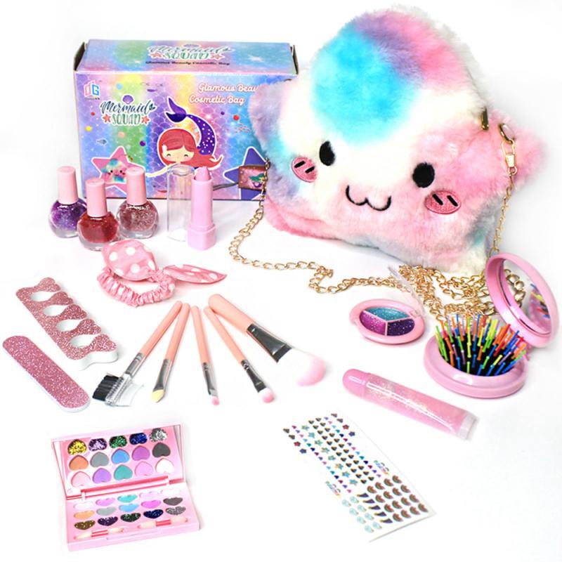 Детский макияж, 1 шт., набор для макияжа принцессы для девочек, ролевые игры, макияжные игрушки для детей, детское платье принцессы