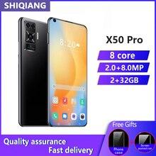 Version mondiale SOYES X50pro Android téléphone portable 6.8 pouces 2GB RAM 32GB ROM 4800mAh Smartphones visage ID déverrouiller téléphones portables