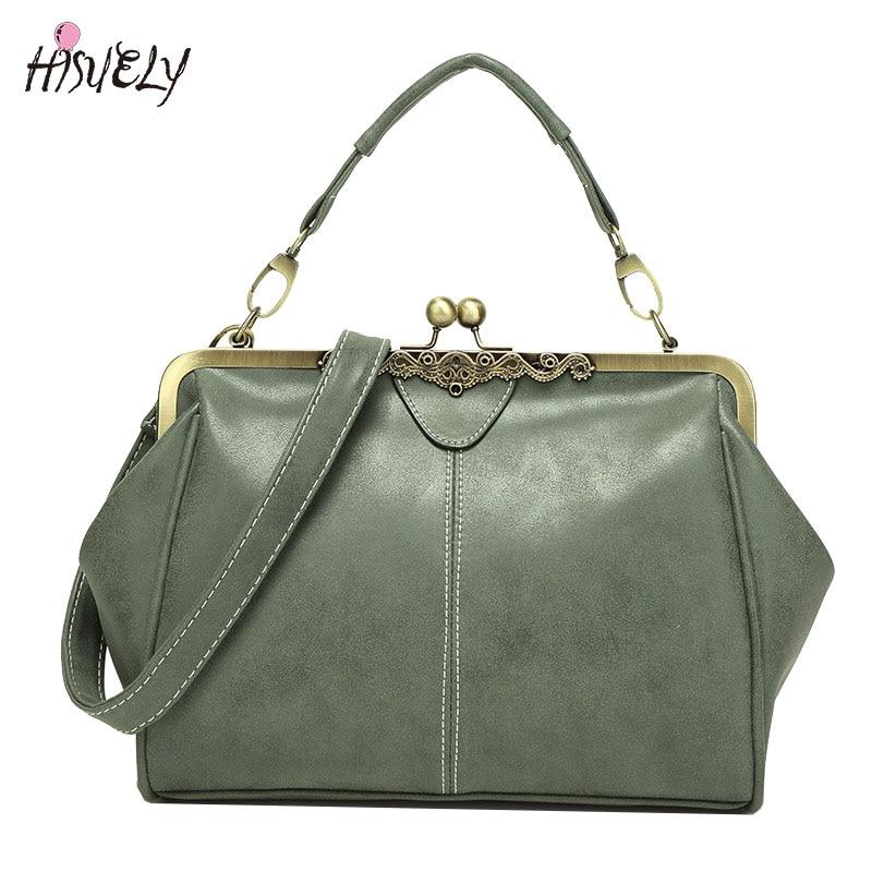 2021 New Vintage Bags Retro PU leather Tote Bag Women Messenger Bags Small Green Clutch Ladies Shoulder Bag Fashion Handbags Hot