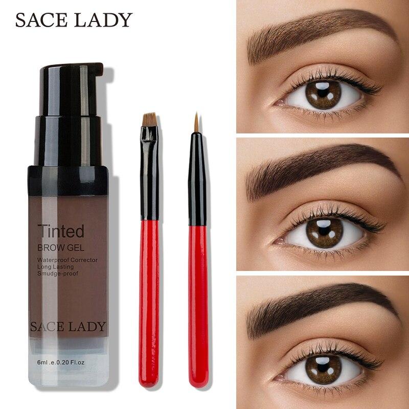SACE DAME Wasserdichte Augenbraue Flüssigen Augenbraue Bleistift Henna Schatten Für Augenbraue Farbton Natürliche Enhancer Bilden Langlebige Kosmetische