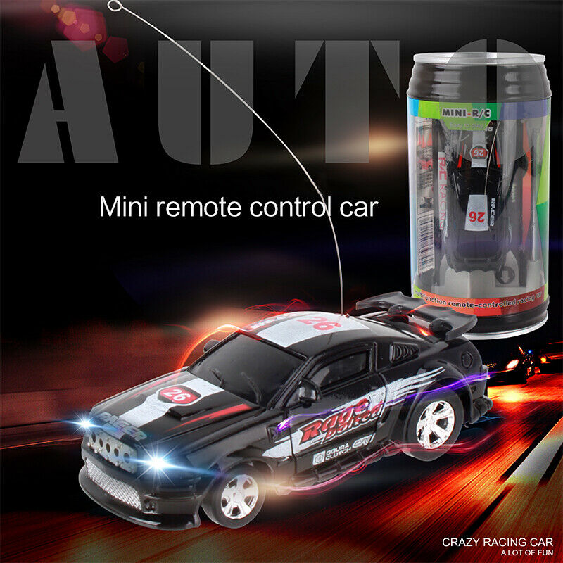 8-Color Coke Can Mini Coke Can Speed Rc Radio Remote Conrtol Micro Racing Car with Led Lingts Toys Kids Gift enlarge